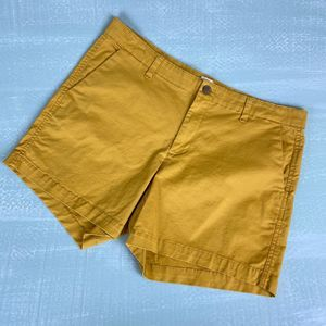 "Gap Mustard Yellow 5"" City Shorts Sz 12"